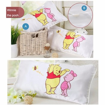 100% silk Baby Kids cartoon animal kids pillow cover