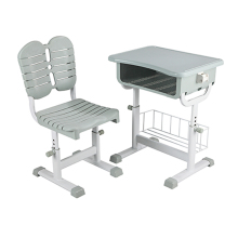 Single Adjustable Plastic student table and chair