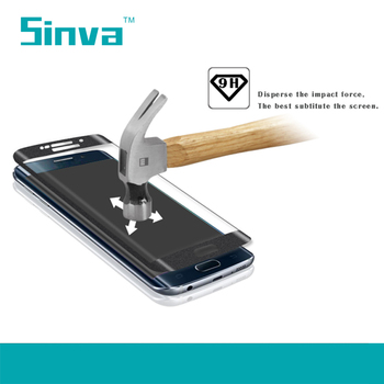 Sinva factory Full size covered high quality 3d curved tempered glass screen protector for Iphone 6 /6 Plus