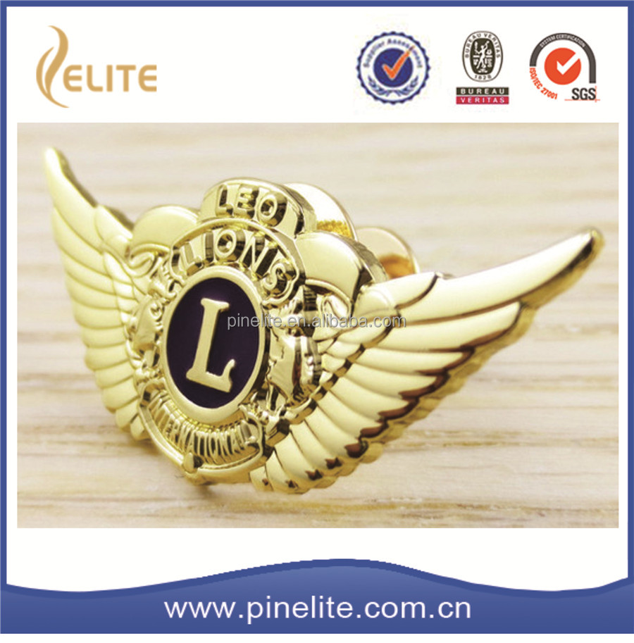 christmas gifts 2016 pilot wing badge,custom metal pilot wings pin badge for kids
