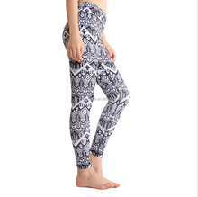 custom sublimation printed polyester spandex yoga wear womens fitness sports leggings yoga pants