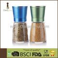 Solid lid 6OZ 170ml Food Grade Anodizing Upside Down Manual Salt Grinder