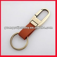 fashion keychain with leather key rings fobs