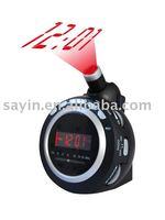 High Sensitivity Receiver DIGITAL projector projection ALARM CLOCK with AM FM radio