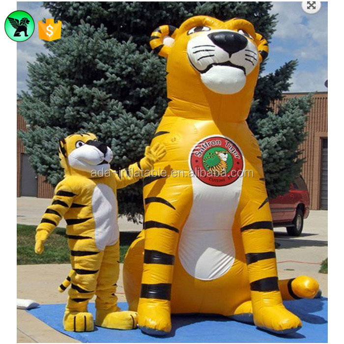 3m Event Stage Inflatable Cartoon Customized Party Decor Tiger Inflatable Model A1412