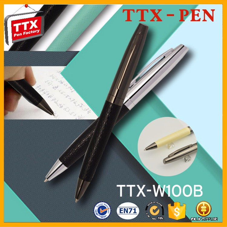writing instrument metal leather gift ball pen,stationery products list fancy pens