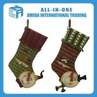 2015 High quality creative 18 inch forest department snowman stocking