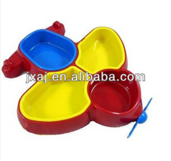 High-grade upper atmosphere cute plastic dishes ECO-friendly and healthy baby dishes