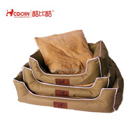 High quality best price soft polyester plush luxury dog bed manufacturer with waterproof