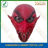 frightened hayride demon head decoration passion red color