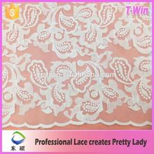 New fashion home style embroidery mesh italian lace/ fancy swiss embroidered lace fabric for party dress