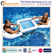 CE PVC water float air inflatable poker game chair table