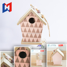 Unique hanging wooden bird house for sale
