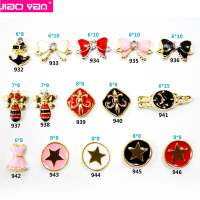 dress bee star alloy nail accessories with pearl #1870