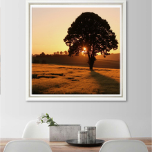 Gallery Wrapped Canvas Printed Sunset Paintings for Farmhouse Decor