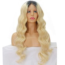 Veteran Blonde Two Tone Ombre Color Natural Wave Brazilian Human Hair full Lace Wig