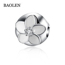 Charms Original Bracelet Spacer Charm 925 Silver Bead Abstract Zircon Beads Jewelry Making 2016 Winter DIY Berloque
