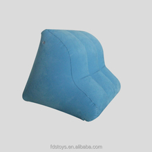 Custom flocking inflatable wedge back support pillow