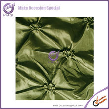 #20917 wholesale cheap elegant fabric textile chameleon pinch pinwheel wedding decorative round table cloth