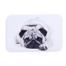 UNIKEA 1-Piece Cartoon Dog Coral Fleece Area Rug For Kitchen Bathroom Slip Resistant Absorbent Machine Washable 4060cm