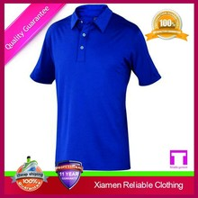 Custom top sale anti shrink anti pilling quick dry nice blue plus size polo shirt