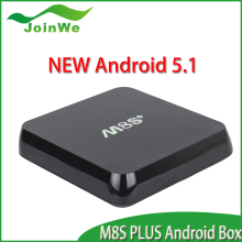 Joinwe Newest 4K android 5.1 lollipop octa core smart tv box m8s PLUS Supplier's Choice
