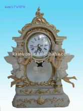 Hotsale Wall polyresin clock with angel