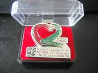 42 year uae natioal day heart logo magnet brooch pin