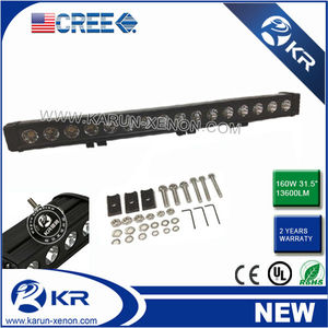 New led light bar 31.5 Inch Cree 160W 13600LM Flood/ Spot/Combo Beam Waterproof IP 67 rgb color change lighting bar led table