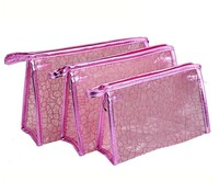 BSCI audited china factory promotional lace clear pvc cosmetic bag case pouch