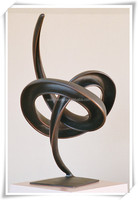 Modern Abstract Bronze Irregular Art Sculpture WS-C036