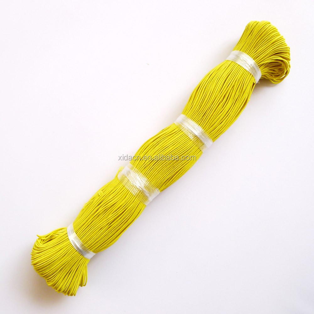 wholesale 150 meters/lot yellow color 1.2mm jewelry elastic cord for bracelet making