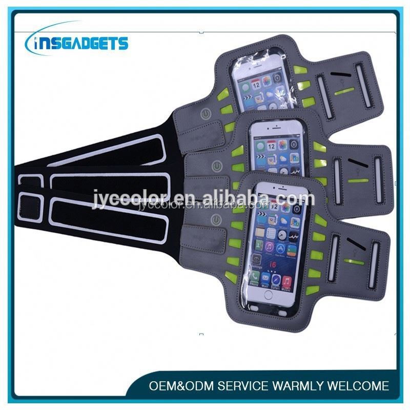 HT027 multifunctional pu + canvas mobile phone armband case