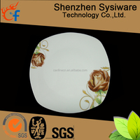 Professional thermocol plate cheap white china plates,porcelain ceramic dinner plate