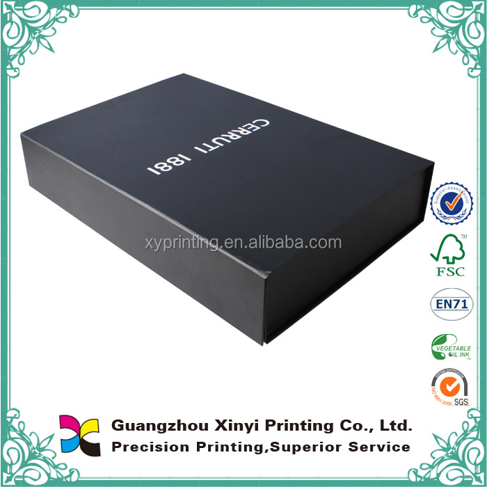 Wholesales Special Customized Black Paper Cardboard Packaging Box