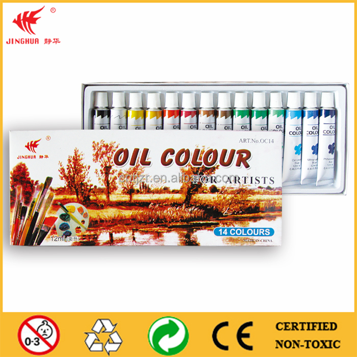 color box 12ml oil paint,maries oil color