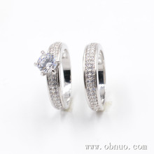 SC018 diamond white gold simple ring design for couples, saudi arabia neutral platinum, shining jewelry