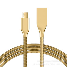 Original 100cm/200cm USB Metal Braided Charger Data Cable for iphone 2A Faster Phones Data Cables