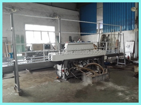 JFE-9243 2018 hot sale high quality glass straight line edging and polishing machine with 9 spindles