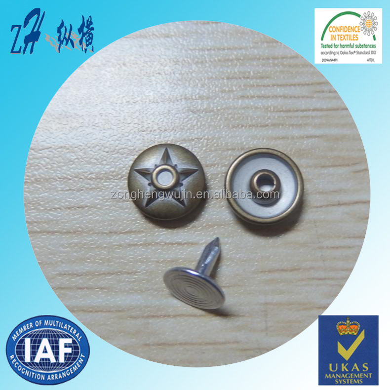 12mm new decorative rivets for belts/zinc alloy rivet