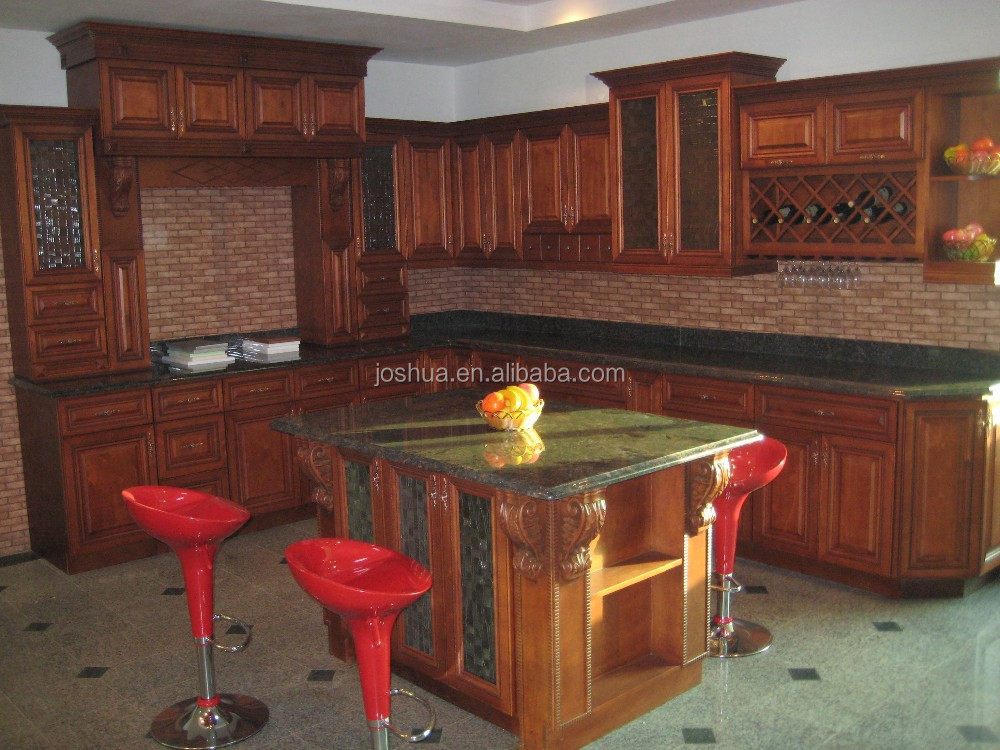 Maple Birch Solid wood Kitchen cabinet
