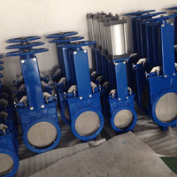 WCB pn10 pn16 electric actuated knife gate valve china supplier