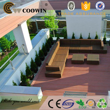 Italy outdoor decking balcony WPC wood plastic tiles floor