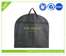 Customized reusable breathable non woven foldable suit cover garment bag