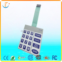 Custom Metal/Poly dome Keypad Button Material Membrane Switch Keyboard