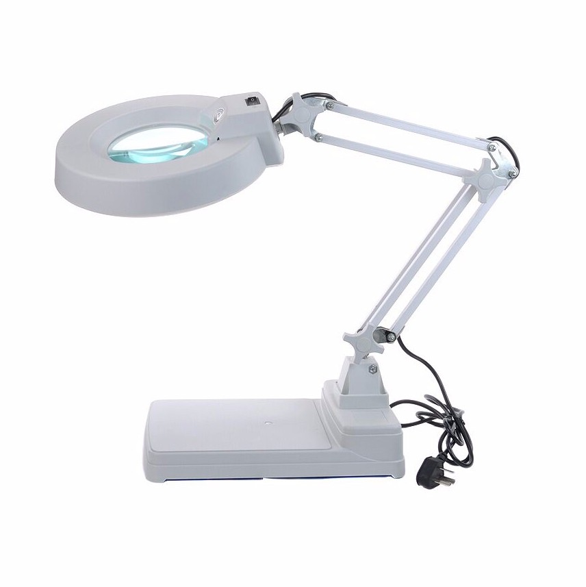 lens 20X Model FT-86C LED Large Glass Magnifier Lamp