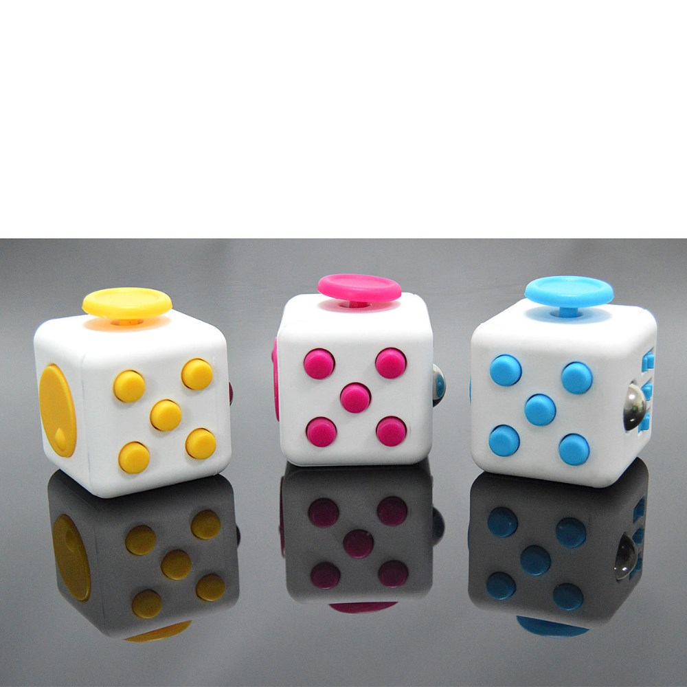 Wholesale novelty 13 color Fidget Cube stress relief toys for kids and adults Decompression stress balls wisdom development toy