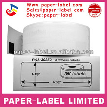 Dymo compatible 30252 Address Labels 1-1/8 x 3-1/2 28mmX89mm 350 label per roll