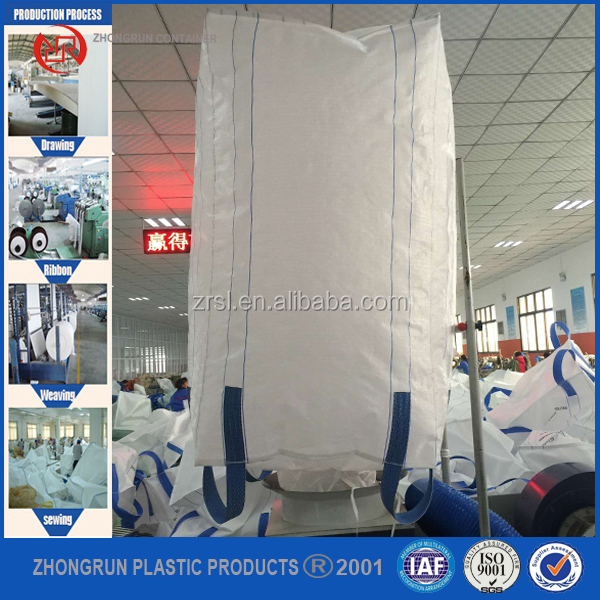 Polypropylene sack 2 ton heavy duty plastic bags big u-panel bulk bag container bag