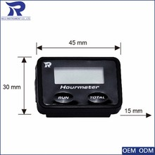 Digital hour meter waterproof LCD backlight for motorcycle